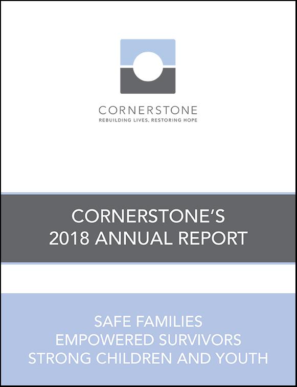 Cover of 2018 Cornerstone Annual Report